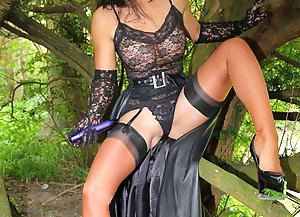 Coming this Friday, 24th May 2013 - A wonderful POV among the trees surrounding my beautiful Manor house. Dressed in exquisite leather, ff nylon seame