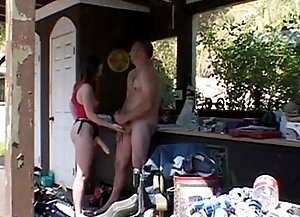 Strict horny female dominates over guy and screws him.
