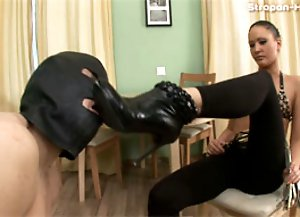 Trained slave's gaping ass