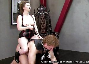 Mistress has slave in ponyboy boot camp