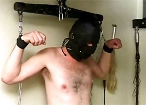 Two male slaves punished and humiliated by mistress
