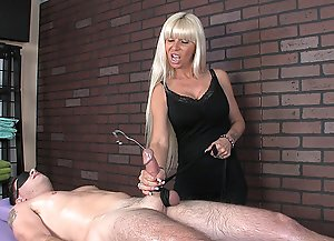 Hot blonde MILF Kasey giving her customer a mean happy ending