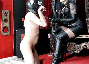 Pet Slave  -  Mistress Johanna / Human Dog / Humiliation / Leather Fetish