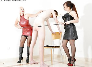 Mind Fuck  -  Lady Mia Harrington and Mistress Heather / Leather / Whipping / Caning